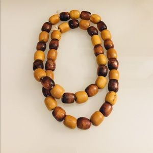 Jewelry - Wooden large bead necklace. NWOT
